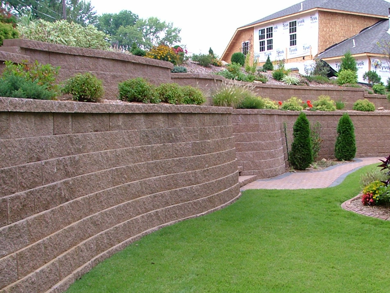 Backyard Retaining Wall Designs Beauteous Design Decoration