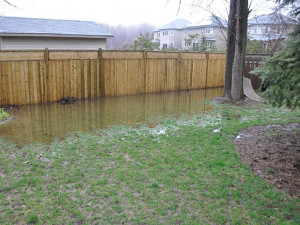 landscape drainage Mustang Oklahoma