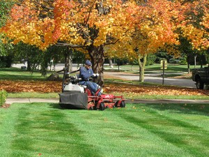 Fall Lawn Mowing The Village, Oklahoma