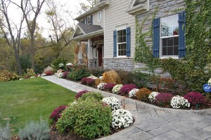 Landscaping in Fall for Techumseh, Oklahoma