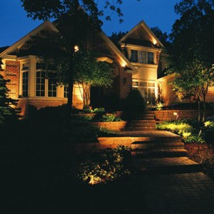 low voltage landscape lighting in The Village