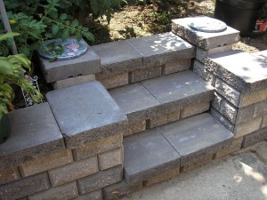 retaining walls stairs