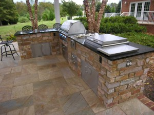 outdoor kitchen for Bridge Creek Oklahoma