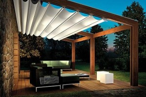 Outdoor patio design with pergola Pink OK