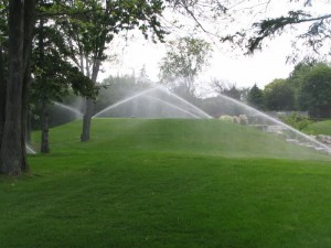sprinkler irrigation system in Norman oklahoma