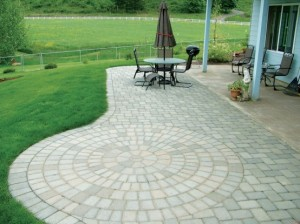 Landscape Patio Pavers in Pink